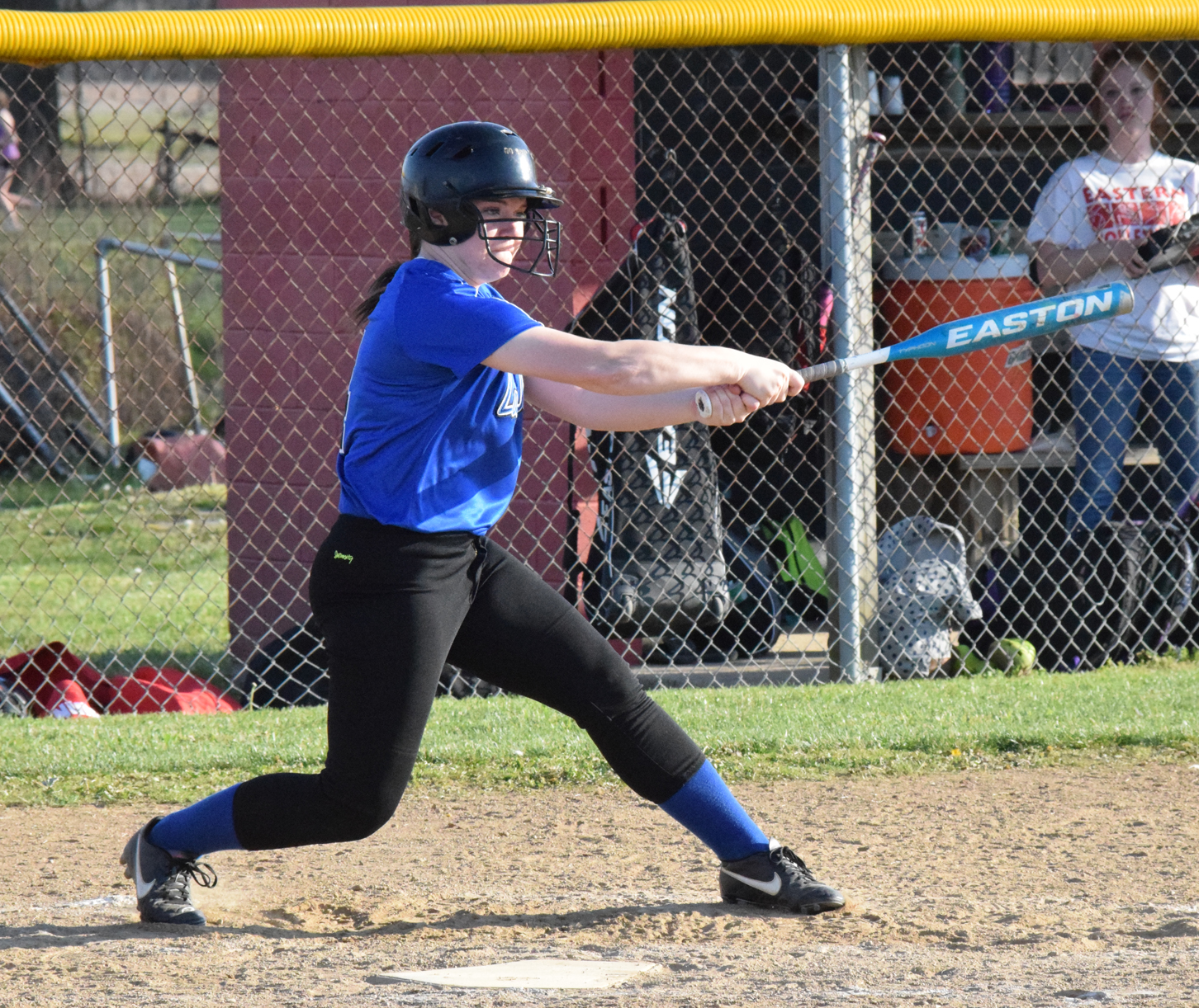 Ripley's Abby Lewis scored a run and tallied three hits, including a triple, in the second game of a doubleheader Saturday against New Richmond. Photo by Garth Shanklin.