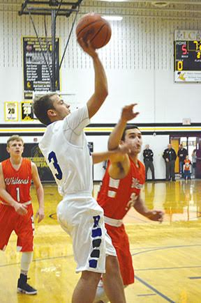 Ripley's Dalton Moran launches a shot in the Blue Jays' Nov. 25 preview game against Whiteoak.