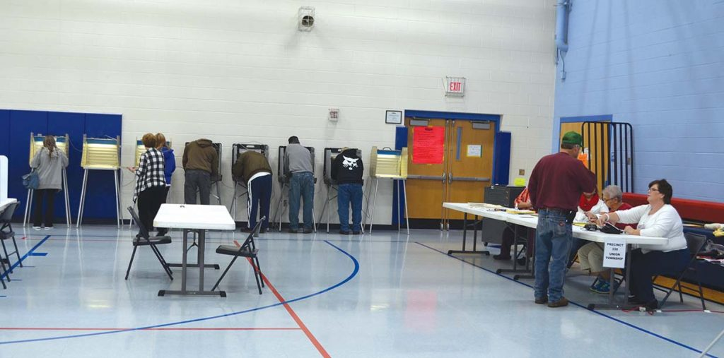 Ripley area voters turned out in high numbers on election day.  Voter turnout was 68.5 percent in the county.  Photo by Wade Linville