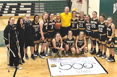 Georgetown High School varsity girls basketball coach Bernie Cropper recorded his 500th career victory as his Lady G-Men topped Batavia for their first win of the season on Nov. 28.